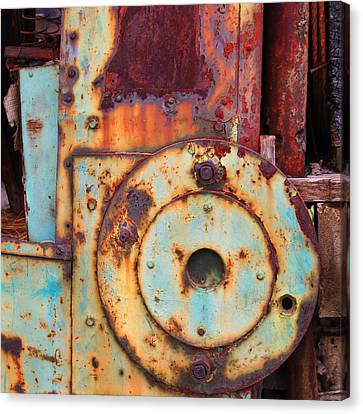 Colorful Industrial Plates Canvas Print