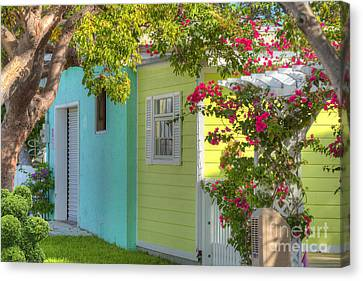 Colorful Island Home Canvas Print by Juli Scalzi