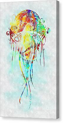 Colorful Jellyfish Canvas Print