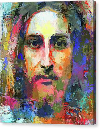 Colorful Jesus Canvas Print