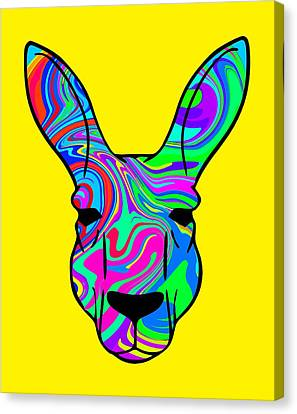 Colorful Kangaroo Canvas Print by Chris Butler