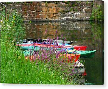 Colorful Kayaks Canvas Print