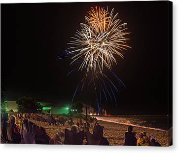 Canvas Print featuring the photograph Colorful Kewaunee, Fourth by Bill Pevlor