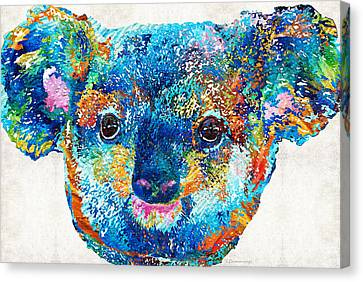 Colorful Koala Bear Art By Sharon Cummings Canvas Print