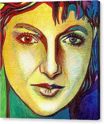Colorful Lady Canvas Print by Jerry  Stith
