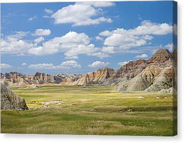 Colorful Landscape In Badlands National Canvas Print by Philippe Widling