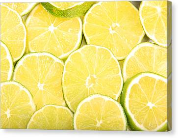 Colorful Limes Canvas Print by James BO  Insogna
