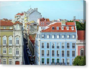 Canvas Print featuring the photograph Colorful Lisbon by Marion McCristall
