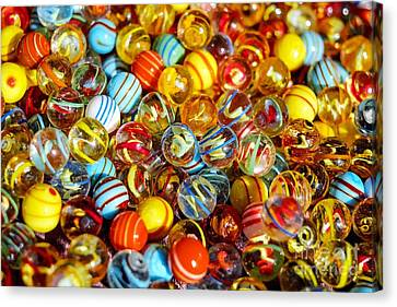 Colorful Marbles - Toys Still Life Canvas Print