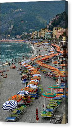 Colorful Monterosso Canvas Print by Corinne Rhode