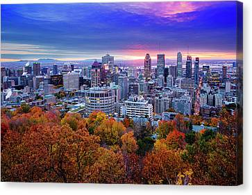 Colorful Montreal  Canvas Print by Mircea Costina Photography