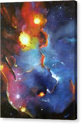 Colorful Nebula Canvas Print by Marti Idlet