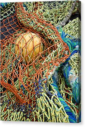 Colorful Nets And Float Canvas Print by Carol Leigh