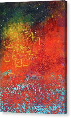 Canvas Print featuring the painting Colorful Night by Nancy Merkle