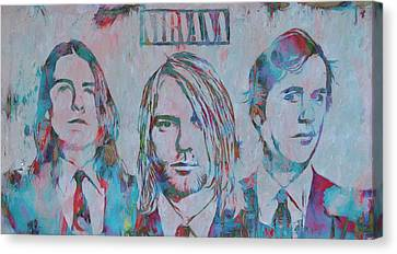 Colorful Nirvana Grunge Canvas Print by Dan Sproul