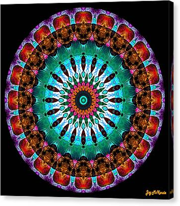 Colorful No. 9 Mandala Canvas Print by Joy McKenzie