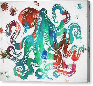 Colorful Octopus  Canvas Print by Dan Sproul