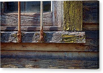 Colorful Old Window Canvas Print