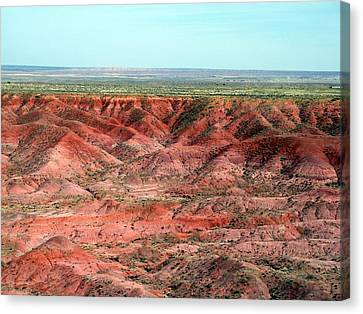 Canvas Print featuring the photograph Colorful Painted Desert by Jeanette Oberholtzer