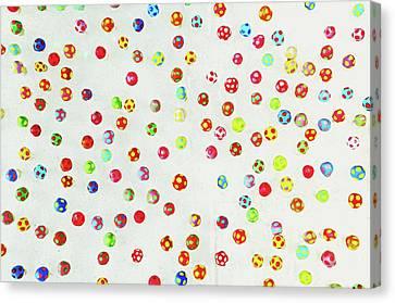 Srdjan Kirtic Canvas Print - Colorful Pattern Made Out Of Many Tiny Mushrooms by Srdjan Kirtic