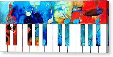 Colorful Piano Art By Sharon Cummings Canvas Print by Sharon Cummings