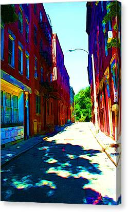 Colorful Place To Live Canvas Print by Julie Lueders