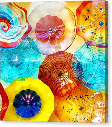 Colorful Plates Canvas Print by Artist and Photographer Laura Wrede