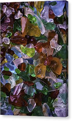 Colorful Pretty Sea Glass Canvas Print by Garry Gay
