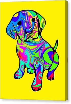 Colorful Puppy Canvas Print by Chris Butler