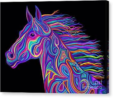 Colorful Rainbow Stallion  Canvas Print