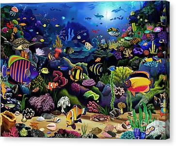 Colorful Reef Canvas Print by Gerald Newton