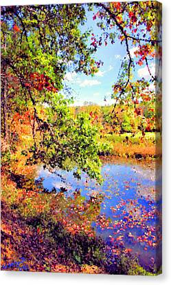Colorful Reflections Canvas Print by Kristin Elmquist