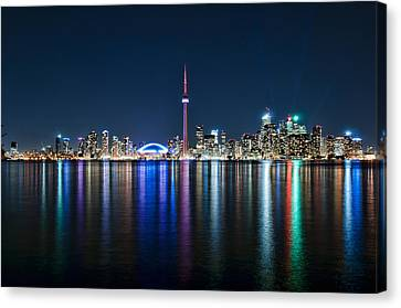 Colorful Reflections Of Toronto Canvas Print