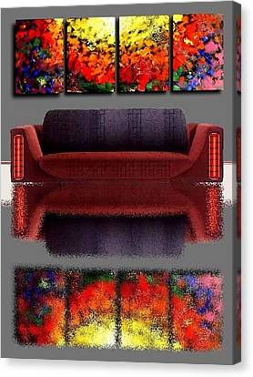 Colorful Reflections Canvas Print by Teo Alfonso
