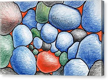 Colorful Rock Abstract Canvas Print by Nancy Mueller