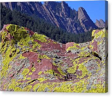 Colorful Rock Mesatrail Canvas Print