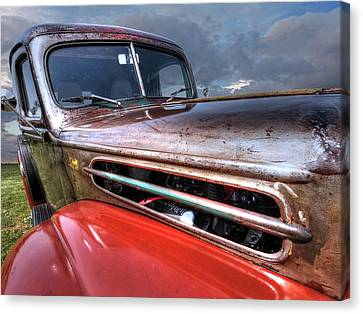 Colorful Rust - 1942 Ford Canvas Print by Gill Billington