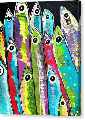 Colorful Sardines Canvas Print by Scott D Van Osdol