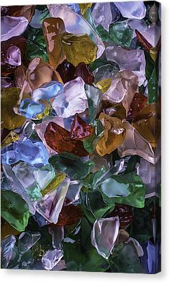 Colorful Sea Glass Canvas Print by Garry Gay