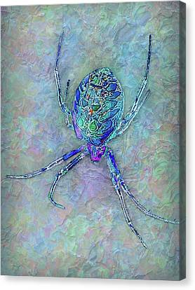 Colorful Spider Canvas Print by Jack Zulli