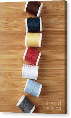 Colorful Spools Of Thread Canvas Print