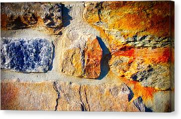 Colorful Stone Canvas Print by Ronald Watkins