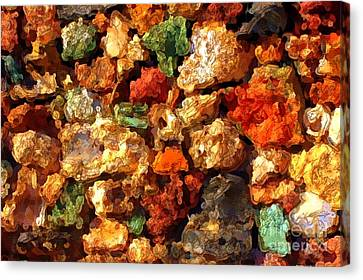 Colorful Stones Abstract Canvas Print by Carol Groenen