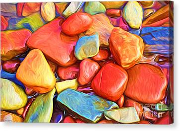Colorful Stones Canvas Print by Veikko Suikkanen