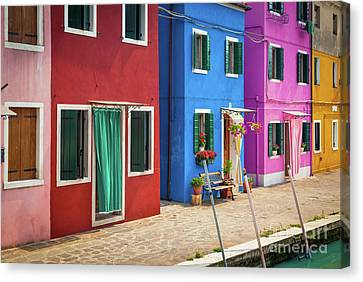 Colorful Street Canvas Print by Inge Johnsson