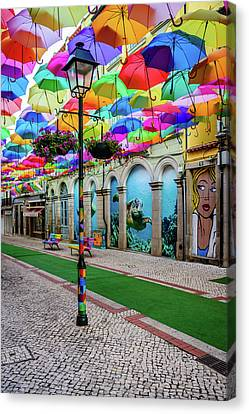 Colorful Street Canvas Print by Marco Oliveira