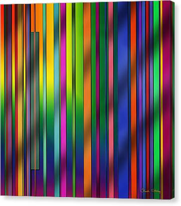 Colorful Abstract Canvas Print - Colorful Stripes by Chuck Staley