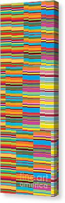 Colorful Stripes Canvas Print by Ramneek Narang