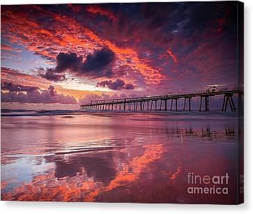 Colorful Sunrise Canvas Print by Rod Jellison