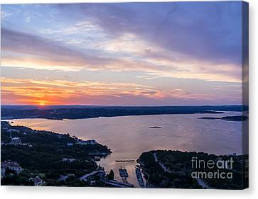 Colorful Sunset At Lake Travis  Canvas Print by Tod and Cynthia Grubbs